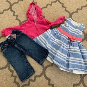 12M Baby Girl Clothing Bundle Dress and Outfit